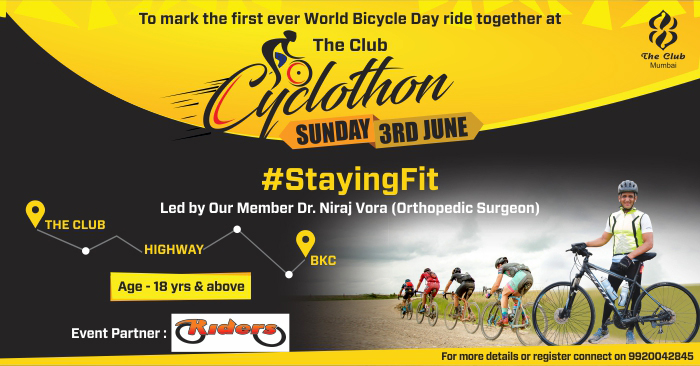 World Bicycle Day with The Club Cyclothon